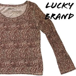 Lucky Brand Animal Print Tee - #NEW